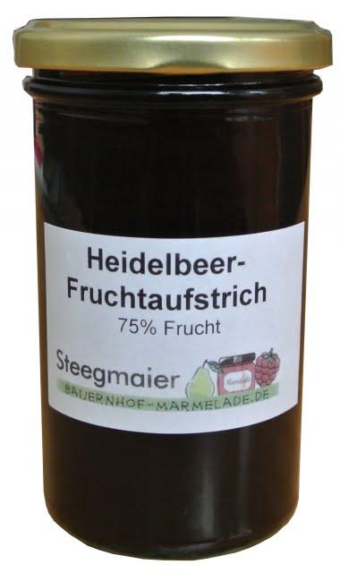 Heidelbeer-Fruchtaufstrich, 75% Frucht